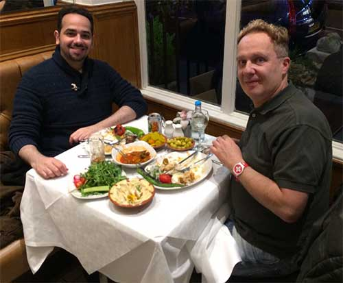 Dr.Saad Al Sogair & Dr.Alain Tenenbaum in a hallal restaurant in London